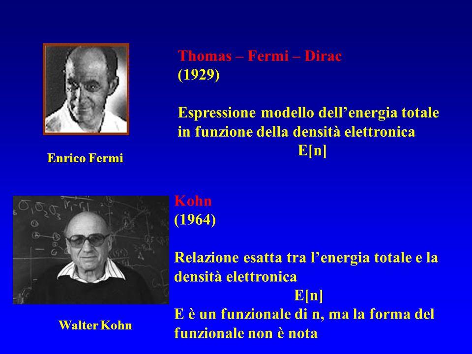 Relazione esatta tra l'energia totale e la densità elettronica E[n]
